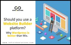 After discussing for quite a while now the WHY and WHAT about websites, let's talk about website builders and what are the benefits and advantages of using WordPress over Wix; Let Them Talk, Let It Be, Website Builders, Fractions, You Really, Budgeting, Wordpress, Web Design, Platform
