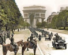Little unofficial parade in the newly occupied Paris