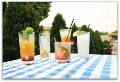 4 Healthier Summer Cocktail Recipes - - healthier summer cocktail recipes like the Skinny Colada and Slender Mint Margarita Summer Cocktails, Summer Parties, Cocktail Drinks, Cocktail Recipes, Dinner Parties, Mint Margarita, Margarita Cocktail, Alcholic Drinks, Party Entertainment