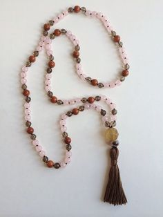 Liefde...108 bead hand knotted mala made by southernmountainmala