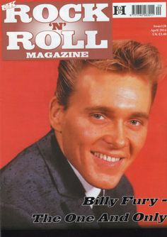 Billy Fury on the front of new Magazine - April 2014 - so apt for his 74th Birthday - 17.4.2014