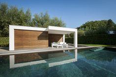 Modern poolhouse   Bogarden