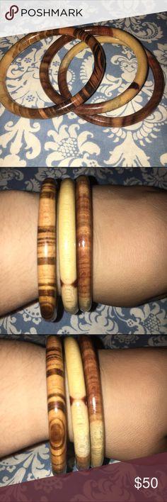 Anthropologie Wooden Bracelet Bangle NWOT Set Anthropologie Wooden Bracelet Bangle NWOT set 🌟 Price Firm🌟 Anthropologie Jewelry Bracelets