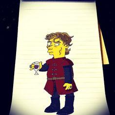 """Chaar bottle wine ka, kaam mera roz ka, na mujhko koi roke, na kisi ne roka, D'oh! #Homer #Simpson #Tyrion #Lannister #GOT #GameOfThrones #Homerization"""