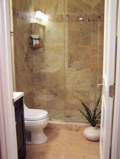 Before and After - 1959 Small Bath!!, The bathroom size is 7.5 ft x 4.8 ft! We widened the doorway to give the illusion of more space. Changed the door from 24 inches to 30 inches. sink is 4-inches away from door molding. Shower tile is 18 x 18 travertine, tiled all the way up.