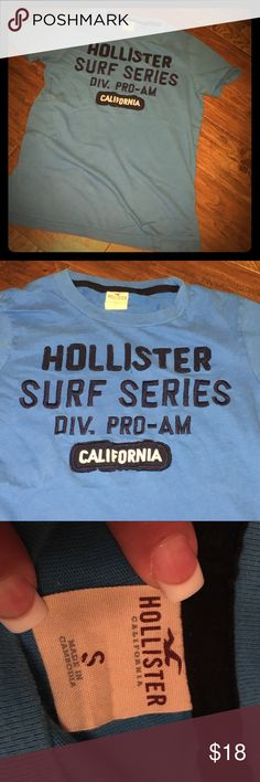 Mens sz S dark teal Hollister 100% cotton top Never worn - has been washed - this is a new Hollister deep teal top - 100% cotton and super soft to the touch Hollister Tops Tees - Short Sleeve