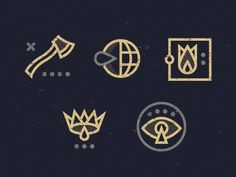 I'm obsessed with linework icons. Love how abstract + atmospheric these are.