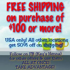 YES! U can use ALL of my specials on one purchase! Check out more on my Facebook (Kay's Henna). #kayshenna #kay_weddings #FREE #free #freeshopping #specials #sale