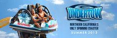 Santa Cruz Beach Boardwalk | UNDERTOW Spinning Roller Coaster