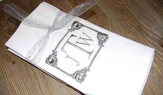 Personalized Napkins Linen Napkins Set of 4 Dinner Napkins