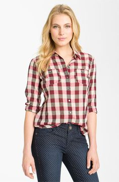 Sandra Ingrish Long Sleeve Plaid Shirt available at #Nordstrom