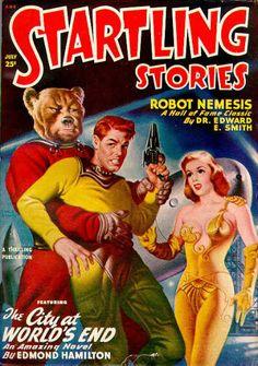 PedoBear vs the Federation of Planets pulp art Pub Vintage, Vintage Comic Books, Vintage Comics, Vintage Posters, Science Fiction Magazines, Science Fiction Art, Arte Sci Fi, Sci Fi Art, Arte Pulp Fiction
