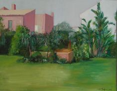 Acrilico/lienzo Golf Courses, Painting, Art, Canvases, Gardens, Art Background, Painting Art, Kunst, Paintings