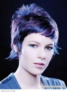 Purple Punk Hair Style