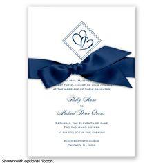 Diamond Hearts - Marine - Invitation