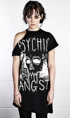 Psychic Angst Tee Dress #disturbiaclothing #disturbia #goth #alien #goth #occult #grunge #alternative #punk