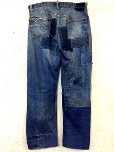 LEVIS   501XX   Leather  Patch  1940s