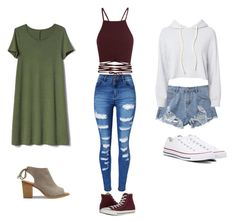 """Cute clothes omg "" by maliyah-wbms on Polyvore featuring Monrow, Converse, WithChic, Gap and TOMS"