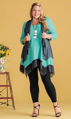 Scottsdale Tunic with Vest Set / MiB Plus Size Fashion for Women / Spring Fashion  http://www.makingitbig.com/product/5162