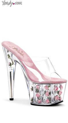 28c0a4c341a4 Lucite Goldfish Heels-The sole slides out so that you can feed the ...