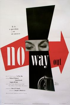 'No Way Out' film poster by Paul Rand, 1950.
