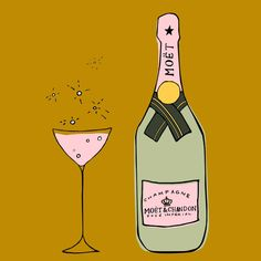 Moet & Chandon Champagne Illustration by Milklegs