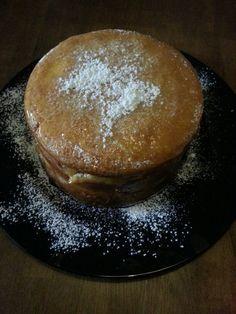 Citroen wolken taart met citroen kwart taart pudding