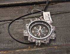 Clear Lego Compass Necklace | ave310.com #hikingaccessories #outdoorjewlery #compass