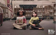 The 15 Most Creative Print Ads Of The Year | Stunning gun control ad via a group called Moms Demand Action for Gun Sense in America.
