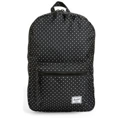 Women's Herschel Supply Co. 'Settlement Mid Volume' Backpack (69 CAD) ❤ liked on Polyvore featuring bags, backpacks, polka dot, spot bags, backpack bags, zip pouch bags, zipper pouch bag and knapsack bag