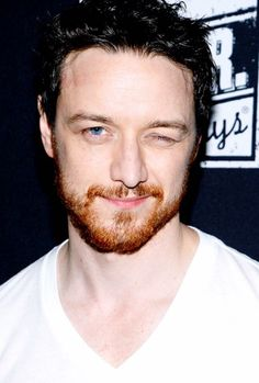 I like James McAvoy's red beard