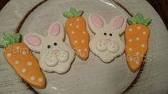 Easter bunny cookies and carrots!  Cute sugar cookies