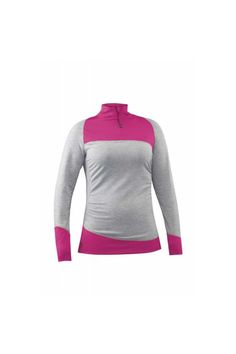 This 2016 Mountain Force Women's Joy Baselayer Shirt is an asymmetrical shirt that is the ideal baselayer for skiing and apreswear. It's going to function at a high level of sustainability but keep high fashion trends and keep you warm and dry.