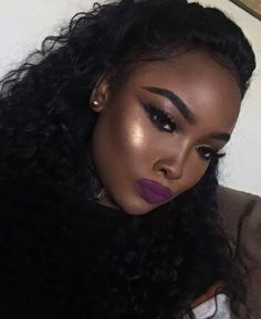 I can help you get this gorgeous look and trendy purple lips. :). GAH and that highlight tho! omg