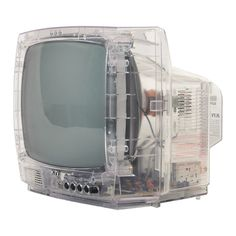 Radios, 8 Track and Record Players, TV Sets and more - Modernist Icon's Collection of available Space Age Electronics for sale: KTV - Clear, Transparent, See Through TV Set Vaporwave, See Through Tv, Nam June Paik, Arte Robot, Tv Sets, Old Computers, Icon Collection, Old Tv, Retro Futurism