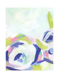 Gardenia Abstracted Wall Art Prints by Makewells | Minted