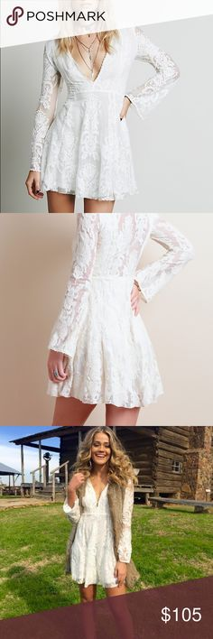 Free people Reign over me white lace dress! Condition is new. Barely worn Free People Dresses