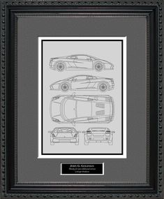 Lamborghini Models, Lamborghini Aventador Lp700 4, Sesto Elemento, Blueprint Art, 16x20 Frame, Jeep Models, Types Of Printing, Wood Glass, Line Drawing