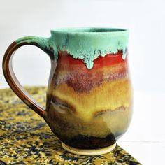 Beer Stein or large Mug in Joyful Blaze