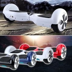 Dual Two 2 Wheels Hoverboards Color-red or black