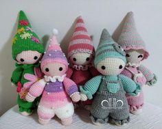 Cuddly baby crochet dolls pattern by Mari-Liis Lille & work by 반짝반짝빛나는쩡
