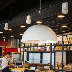 #lampenundleuchten.at #Innenbeleuchtung #Deko #Außenbeleuchtung #Cafe #Restaurant Shops, Cafe Restaurant, Ceiling Lights, Lighting, Home Decor, Interior Lighting, Deko, Tents, Lights