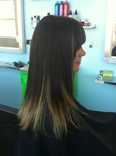 Ombre with balayage underneath  hair by: kathryn werk  423/ 785-6801