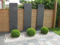 Agreeable contemporary garden fence design splendid wood beams on Landscape Design Plans, Modern Garden Design, House Landscape, Modern Design, Modern Japanese Garden, Modern Courtyard, Modern Landscaping, Backyard Landscaping, Landscaping Ideas