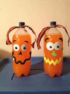 Pumpkin Drinks I made for the Haloween Party