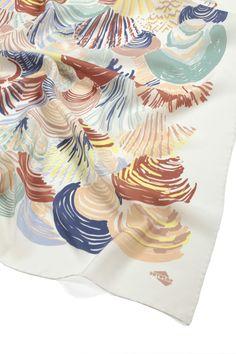 """""""Valvas"""" silk scarf by SuTurno"""