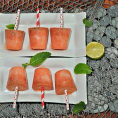 watermelon mojito ice pops More