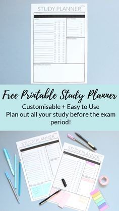Using a study plan is a great way to prepare for final exams. Use this free printable study planner to get your studying started and nail those exams!
