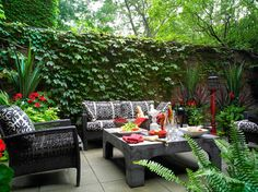 city courtyard contemporary patio toronto terra firma design