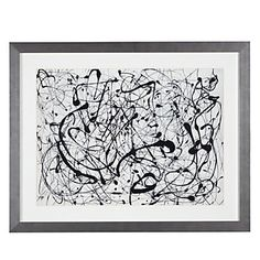 Z Gallerie is bringing back the modern masters with framed prints of Jackson Pollock. Number 14, Gray. $149.95